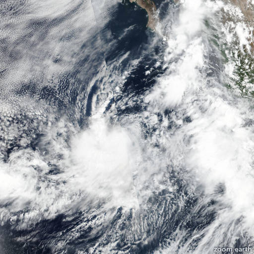 Satellite image of Storm Ivo 2019