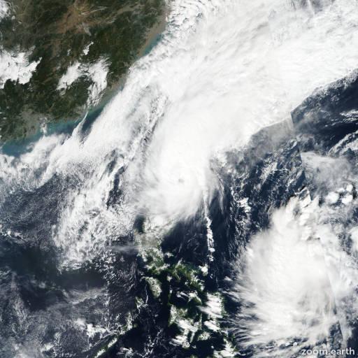 Satellite image of Typhoon Kalmaegi (Ramon) 2019