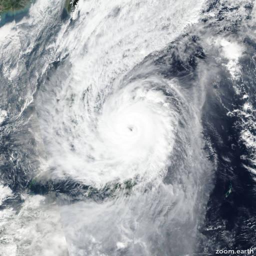 Satellite image of Typhoon Kammuri (Tisoy) 2019