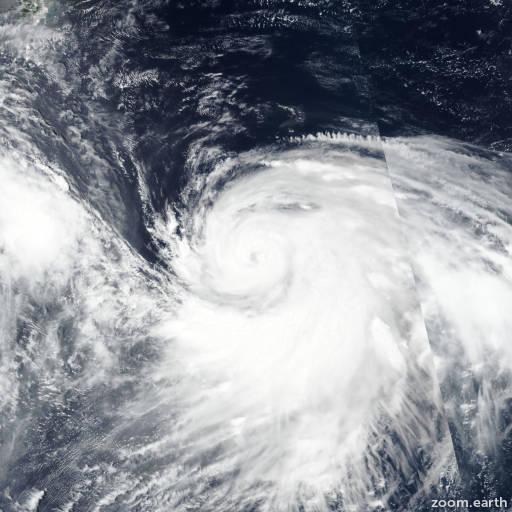 Satellite image of Typhoon Krosa 2019