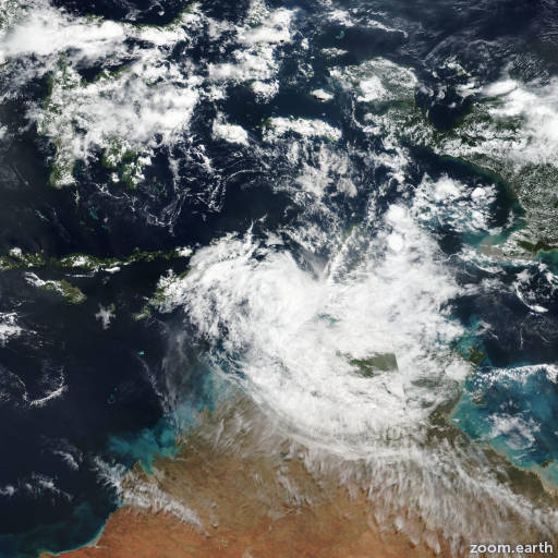 Satellite image of Cyclone Lili 2019