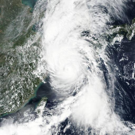 Satellite image of Typhoon Lingling 2019