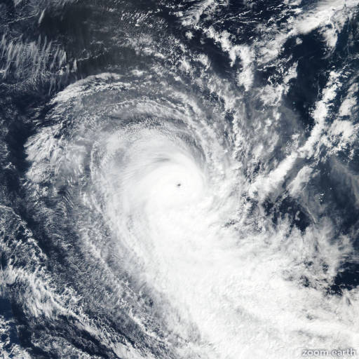 Satellite image of Cyclone Lorna 2019