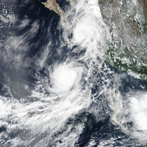 Satellite image of Storm Mario 2019