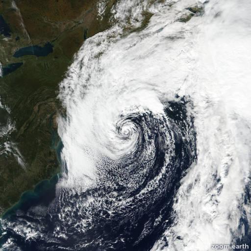 Satellite image of Storm Melissa 2019