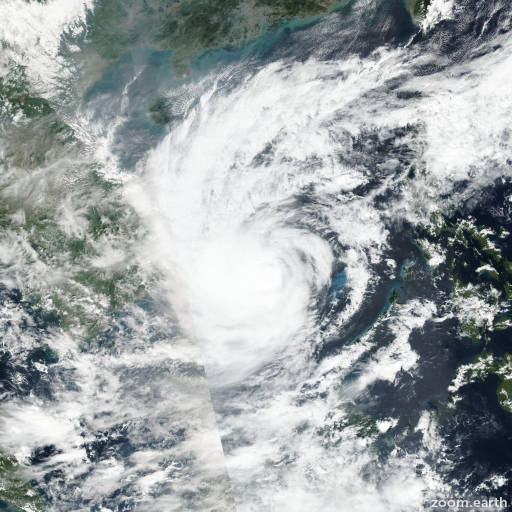 Satellite image of Storm Nakri 2019