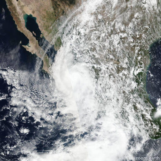 Satellite image of Storm Narda 2019