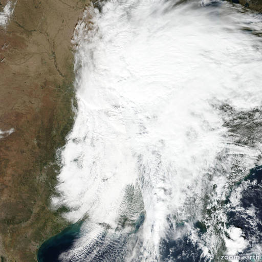 Satellite image of Storm Olga 2019