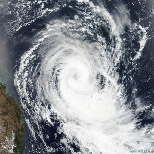 Satellite image of Cyclone Oma 2019