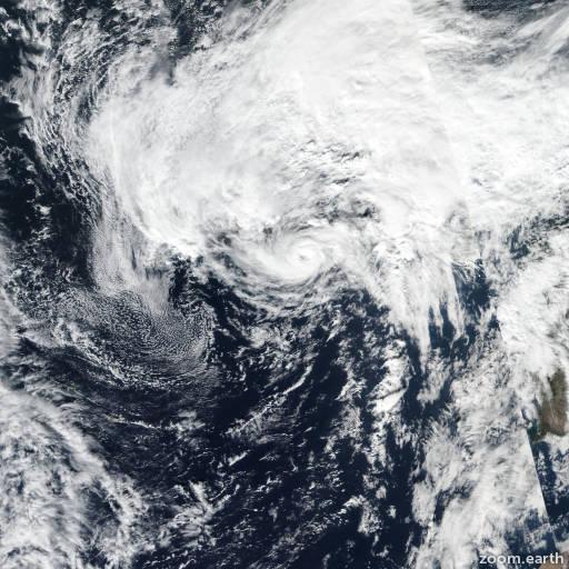 Satellite image of Hurricane Pablo 2019