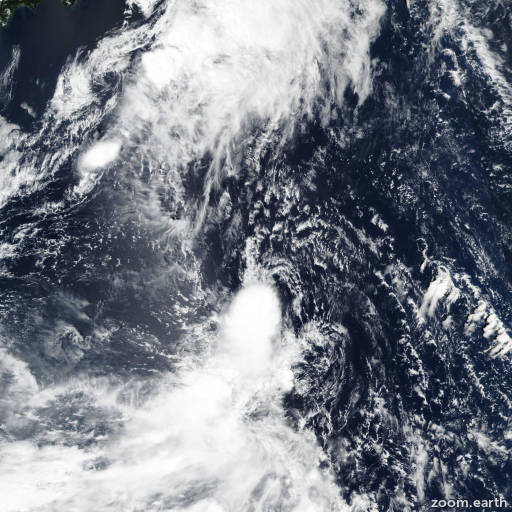 Satellite image of Storm Peipah 2019