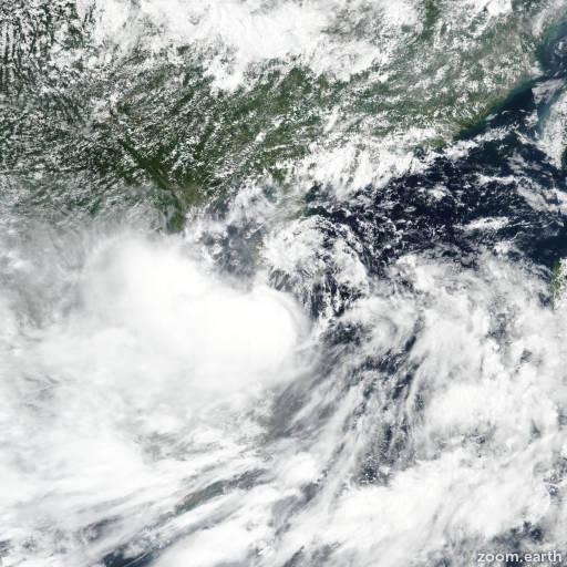 Satellite image of Storm Podul 2019