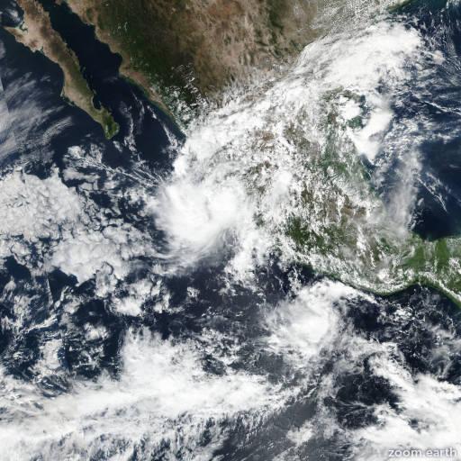 Satellite image of Storm Priscilla 2019