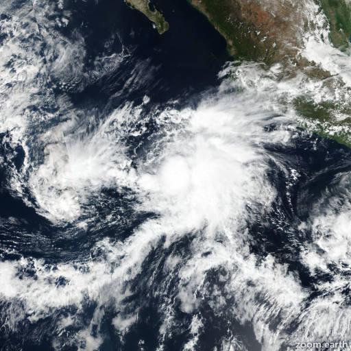 Satellite image of Storm Raymond 2019