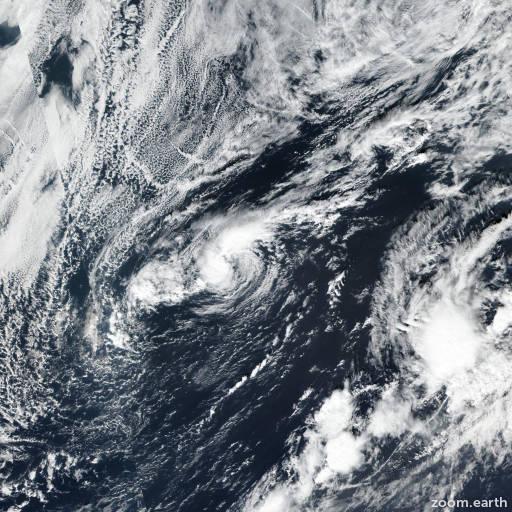 Satellite image of Storm Rebekah 2019