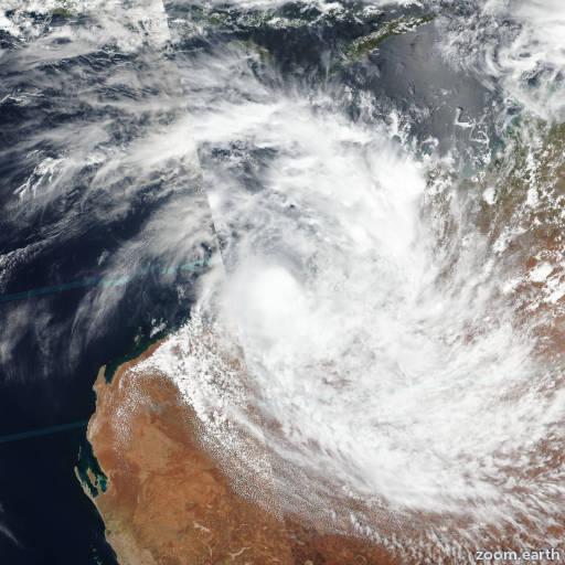 Satellite image of Cyclone Blake 2020